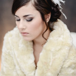 glamorous wedding day beauty