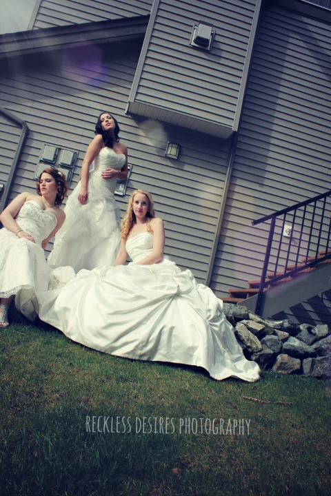wedding dress photoshoot