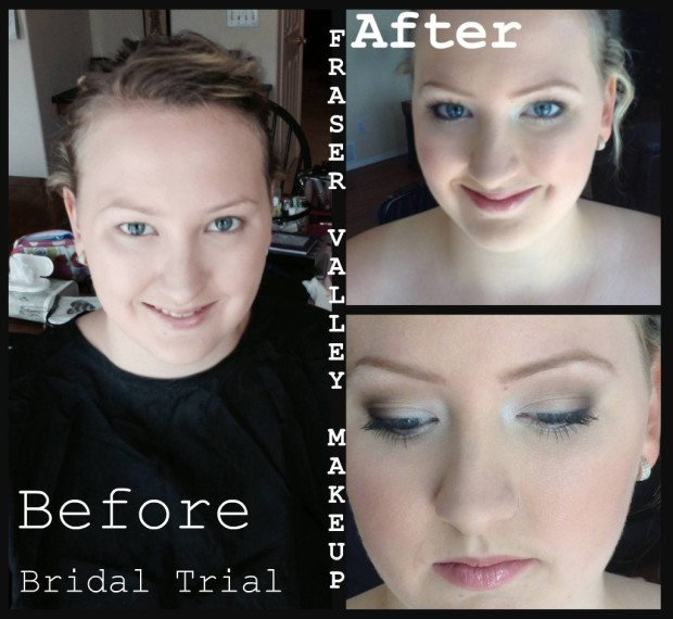 Makeup Trial Before and After