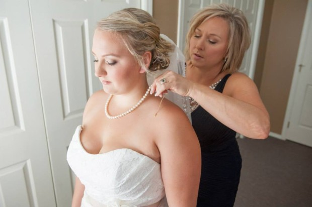 mom and daughter wedding day makeup artist