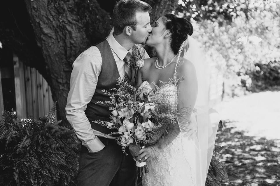 tanis katie bride and groom