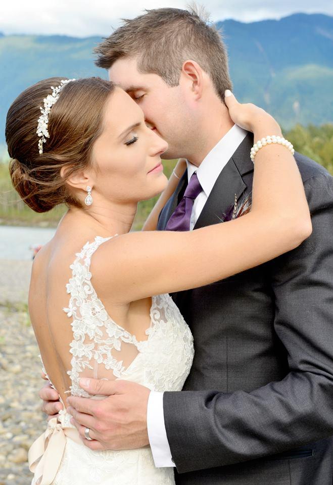 bridal chignon abbotsford