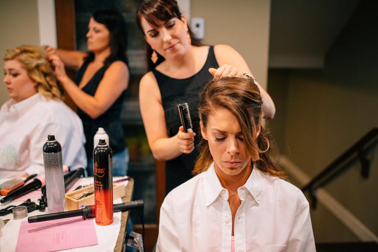 bridesmaid hair stylist newlands golf course