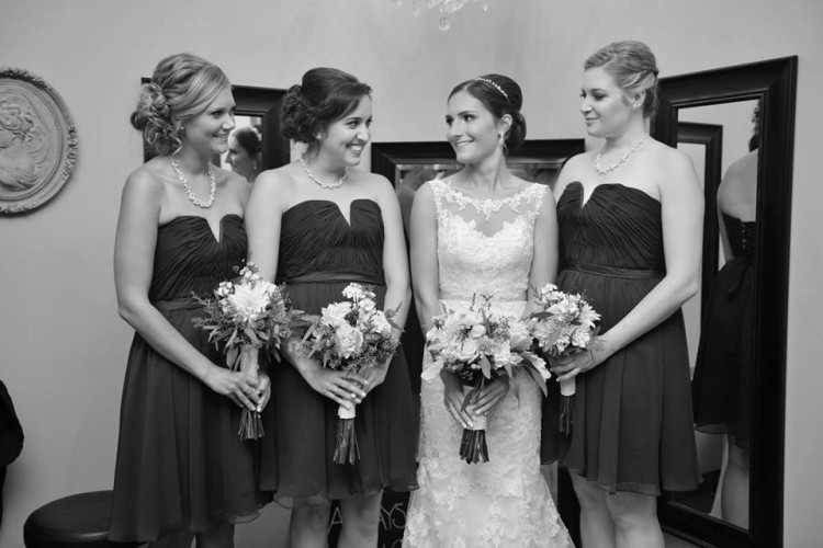 bridesmaids hair and makeup