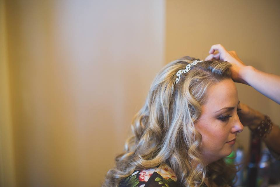 half up half down bridal hair style langley bc